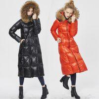 Wholesale Canada Long Down Coat - High Quality Canada Luxury 2016 Winter Women Warm Thick Duck Down Parkas Fashion Genuine Raccoon Fur Collar Down Jacket Coat