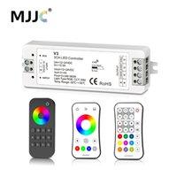 streifen führte 12 volt großhandel-MJJC RGB RGBW LED-Streifen-Prüfer Rf 12v 24v 2.4G drahtloser RGBW-Fernprüfer 12 Volt 5 Jahre Garantie