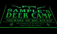 Wholesale Deer Signs - LS583-g Name Personalized Custom Deer Camp Big Racks Bar Beer Neon Sign