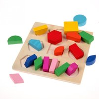 Wholesale Geometry Puzzle - Baby kids early Education Geometry Puzzle toy Wooden Learning Montessori Early Educational Toy