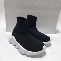 Wholesale Black Shoe Baby Socks - Fashion Kids Socks Boots Children High-Top Athletic Shoes Baby Slip-On Casual Flats Shoes Speed Trainer Running Shoes Black Gray Blue Red
