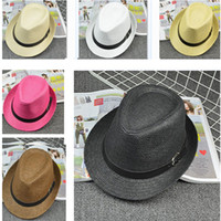 Wholesale Kit Girl Autumn - Children Kids Kitted Print Hats Buckle Adult British Jazz Cap Hats Parent-Child Family Match Wide Brim Hats HH-H35