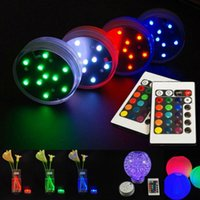 Wholesale Submersible Waterproof Wedding Floral Decorations - 5050 SMD 10 LED Submersible Candle Lamp Remote Control Multicolor Floral Vase Base Waterproof Light Wedding Birthday Party Decoration