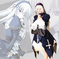Wholesale Suigintou Cosplay Costume - Wholesale-Japanese anime Peach-Pit Rozen Maiden Cosplay Costume Suigintou Cosplay Costume