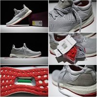 Genuine Leather original branded sport shoes - brand Originals Ultra Boost Uncaged SoleBox Grey White Red S80338 Mens Sports Running Shoes sneakers for men Size