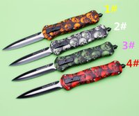 Wholesale Skull Tactical - BENCHMADE Butterfly BM A020 A 020 20 skull 4 colors DUAL ACTION Hunting Folding Pocket Knife Survival Knife Xmas gift for men 1pcs