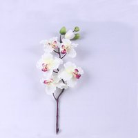 """Wholesale Flower Shop Displays - 36 """" tall 3.5 """"diameter 4color artificial silk flower orchid phalaenopsis in white yellow pink for home cafe shop garden wedding bride decro"""