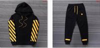 Wholesale Cheap Brand Tracksuits - Men Women Apparel Stripe Hoodies OFF-WHITE Sweatshirts Causal Hip Hop Cool Brand Designer Men Jesus Cheap Best Tracksuit Jacket Pants