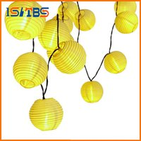 Wholesale Outdoor Lanterns For Candles - 30 LED Lantern Ball Solar String Lights Outdoor Lighting Solar Lamp Fairy Globe Christmas Decorative Light for Party