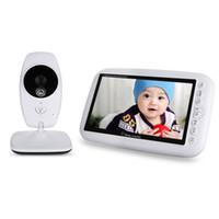 lcd baby monitor оптовых-Оптовая продажа-7.0 дюймов 2.4 ГГц беспроводной TFT LCD двойной вид видео монитор младенца с инфракрасным ночного видения видео няня детские Радио