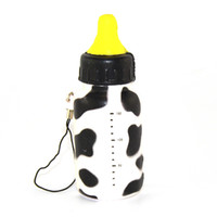 Wholesale Milk Bottle Toy - Wholesale-New Squishy Feeding Milk Bottle Toy Cellphone Straps Slow Rising Bread Fun Toy Random 1PCS