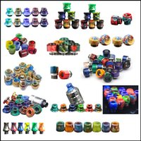 Wholesale Steel Drip Tips - Drip Tips Replacement Epoxy resin stainless steel SMOK TFV8 eleaf joytech drip tip 510 drip tips TFV-8 big baby single package