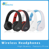 Wholesale Wireless Bluetooth Headphones Stereo Foldable - 2016 New NX-8252 Foldable wireless headphone bluetooth headphone headset sports running stereo Bluetooth V3.0+EDR with retail packaging dhl
