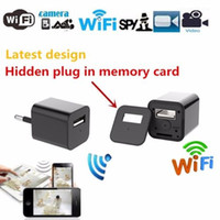 Wholesale Wifi Usb Security Camera - WiFi Charger Camera 1080P Wireless Spy Camera EU US Power Adapter Hidden Camera Plug USB Phone Charger Cam IP Security Camcorder DVR