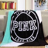 Wholesale Coral Fleece Bedspread - throw Blanket fleece 130x150cm pink Manta Fleece Bedding Throws on Sofa Bed Car Portable Plaids Bedspread Hot Limited TV Blanket