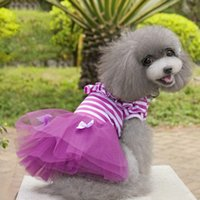 Dresses Spring/Summer Halloween Fashion Princess Pet Dresses With Bowknot Lace Pink Purple Color Bowknot Dog Coat Brand New Good Quality For Spring Automn Min Order 50PCS