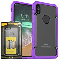 Wholesale Tpu Pc Bumpers - Transparent Hybrid TPU+PC SUPCASE Anti-Scratch Colorful Soft Bumper Shockproof Case For iphone x 8 6 6s samsung note 8