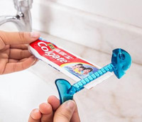 Wholesale Wholesale Soap Cosmetics - DHL Free Ship,150Pcs Creative home cartoon fish bones toothpaste dispenser Korea lazy cosmetic cleanser squeezer