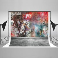 Wholesale Photography Background Wall Prop - Graffiti Photography Backdrops for Photographers Cotton Seamless Collapsible Digital Graffiti Wall Photo Studio Props Background HJ04046