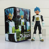 Wholesale God Piece - Vegeta Dragon Ball Z BANPRESTO Master Stars Piece MSP Figures Super Saiyan God SS Vegeta PVC Action Figure Toy 25cm