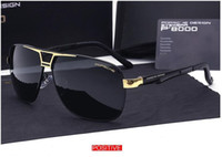 Wholesale leisure glasses - Luxury Brand LOGO Original Box Polarized Sunglasses Mens Goggles Women Designer Leisure Glasses oculos de sol Eyewear 8521
