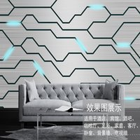 Wholesale Wall Textures Modern - 3d modern modern avant-garde simple wind metal texture mural custom living room sofa background office company wall paper
