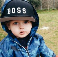 Wholesale Hiphop Boy Snapback - Ins Baby Baseball Caps Kids Snapback Caps Sun Hat Children's Boys Girls Embroidery Hiphop Hats Black Pink Color