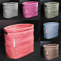 Wholesale Garbage Bins - 9 Colors Oxford Rubbish Organizers Storage Bag Mini Garbage Bin Dust Case Holder Box for Home Car Recycling Containers Bag CCA7035 50pcs