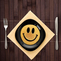 Wholesale Plastic Ring Mold - Smiley Face Egg Mold Silicone Smile Shaped Pancakes Omelette Device Egg Tool Kitchen DIY Creative Fried Egg Mold XL-202
