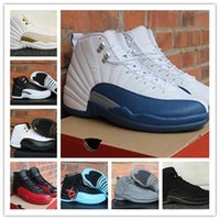 Wholesale Free Taxi - [With Box] Free shipping online Cheap New Retro 12 12s XII Men Basketball Shoes TAXI Flu Game french blue OVO White PSNY Sneaker 12 shoe