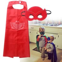 Wholesale Kids Stage Clothing - DHL FREE Children P&J mask kids owlette catboy gekko cartoon cosplay clothing baby boys girls Capes mask set