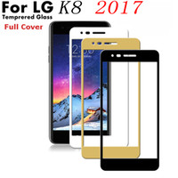 Wholesale Mi Glass - Colorful Full Cover Tempered Glass Screen Protector For LG Stylo 3 K7 K10 G6 K8 2017 MS550 V20 V3 LS775 X Power