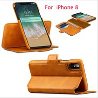 Wholesale Leather Handmade Iphone Cases - 2017 the latest handmade wallet case 6 colors very unique style for iphone X leather case