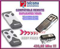 Wholesale Remote Control Garage Door Opener - Best price! 2 pieces lot! TELCOMA transmitter SLIM2,SLIM4 433,92MHZ remote control replacement garage door opener