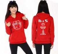 Wholesale Letter S K - K-pop BTS Hoodies Sweatshirts Jungkook J-hope Jimin V Suga Cotton Kpop BTS Sweatshirt Moletom Moleton Feminino BTS Bangtan Boys unisex