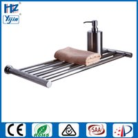 Wholesale Bathroom Electric Towel Warmer - Free shipping high quality Single layer heated towel rail electric towel warmer rack stainless steel bathroom shelf dryer towels HZ-921