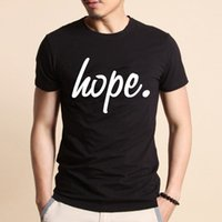 Wholesale Hope Summers - Fashion Hope Man T-Shirt Black White Summer Cotton O Neck T Shirt Mens Short Sleeve Mens tshirt Male Tops Tees M-3XL Free Shipping