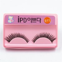 Wholesale Thick Black Hair Bands - False Eyelashes Natural Fake Eyelashes Black False Eyelashes Eyelash Thick Eye Lashes Extension Band Makeup IPD 002 ~ 013