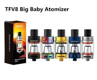 Wholesale Top Vape Mods - Single TFV8 Big Baby Tank Atomizer with 5ml Top Filling Airflow Control Cloud beast V8 Baby-M2 Coils For stick v8 vape mod kits