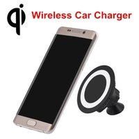 Wholesale Iphone Charger Mount Dock - Newest Qi Wireless Charger Dock Magnetic 360 Rotating Mount Car Holder Charging Pad For Samsung Galaxy S7 S7 S6 Edge Plus Note 5