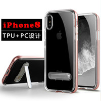 Wholesale I Phone Holders - SGP Holder Phone Case For iphone X i phone 7 iphone 8 iphone 6 6s plus TPU+PC Clear Cell Phone Case