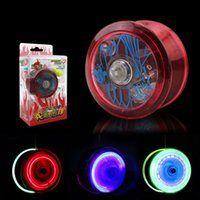 Wholesale new yoyo resale online - High Speed YoYo Ball Luminous New LED Flashing Yo Yo Child Toys for Kids Party Entertainment Q0045