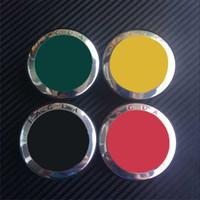 Wholesale Badges Automobiles - 5colors 58mm chrome jaguar R Wheel Covers wheel center caps hub car badges emblem Automobile Accessories Car Styling