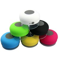 Wholesale Button Promotions - Portable Waterproof Wireless Bluetooth Speaker Shower Car Handsfree Receive Call & Music Suction Phone mini speakers Mic Promotion DHL FREE