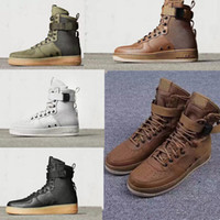 Wholesale White Rubber Combat Boots - Hot Sale Special Field Air 1 One Men and women high and low boots air combat boots leather warm fashion shoes Height Increasing Shoes [With