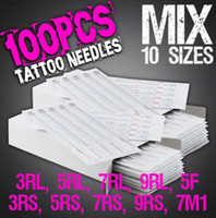 Wholesale Disposable Needles 7rl - New Arrival 100pcs Disposable Tattoo Needles Mix Needles 10 Size 3RL 5RL 7RL 9RL 3RS 5RS 7RS 9RS 5F 7M1 For Tattoo Machine Free Shipping