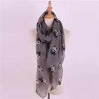 1PC Lovely Fashion Women Soft Cotton Lady Comfortable Long Neck Large Scarf xaile Voile Stole Dot Warm Scarves Gift Hot