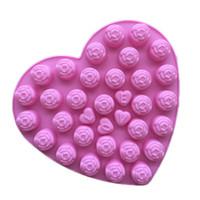 плесень любовь оптовых-Конфеты формы для любителей лего, шоколадные формы, формы для кубиков льда, силиконовые формы для выпечки-Love Rose Бесплатная доставка