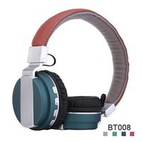 Wholesale Headset Radio For Iphone - BT008 Bass Stereo Bluetooth Headphones Foldable TF Card FM Radio Wireless Bluetooth Headset For Iphone Samsung P47