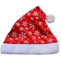 altın kar tanesi süslemeleri toptan satış-12 Adet / grup Altın Gümüş Kar Tanesi Noel kap Şapka Noel Dekorasyon Için Noel Baba Şapka Noel Caps Hissettim